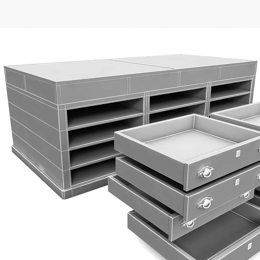 Luxurious Jewelry Shop Display Case royalty-free 3d model - Preview no. 16