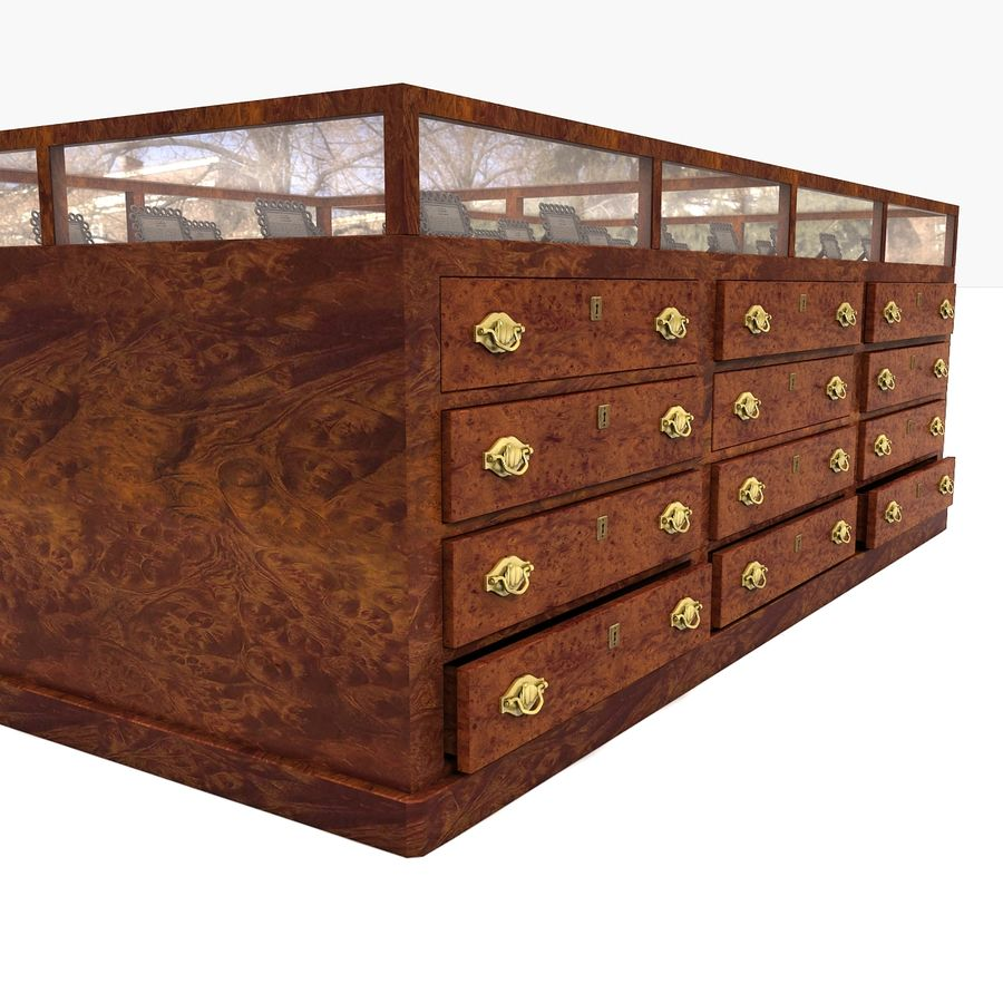Luxurious Jewelry Shop Display Case royalty-free 3d model - Preview no. 3