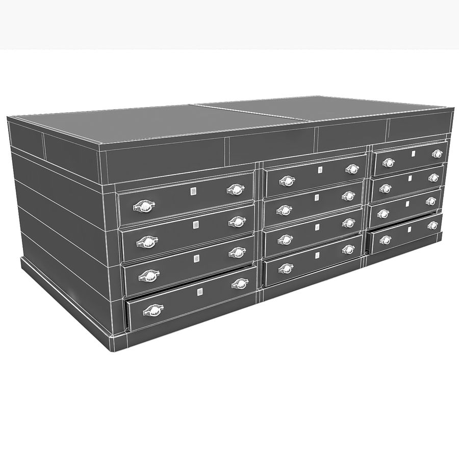 Luxurious Jewelry Shop Display Case royalty-free 3d model - Preview no. 17