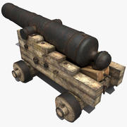 Old Pirate Cannon 3d model