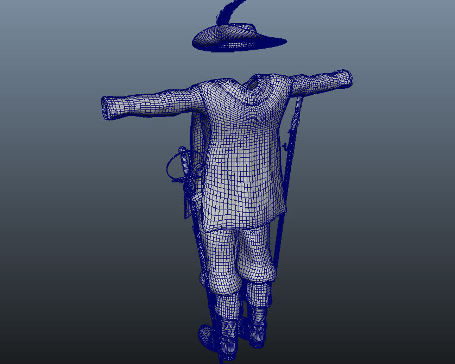 Musketeer Accessories royalty-free 3d model - Preview no. 11