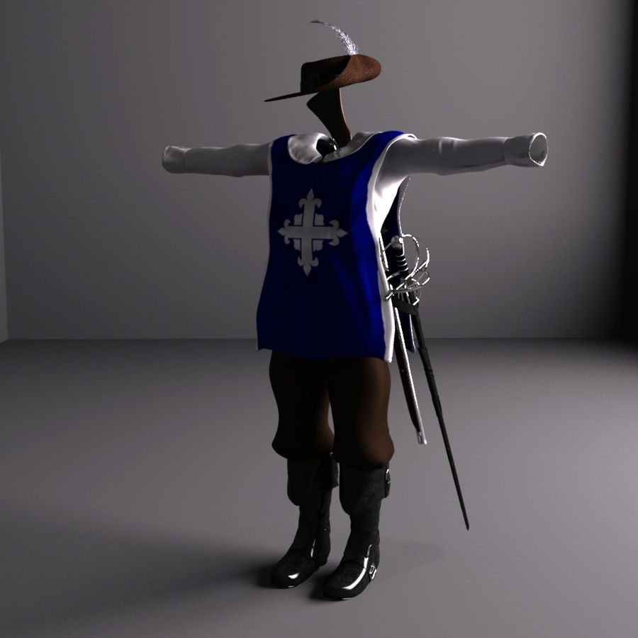 Musketeer Accessories royalty-free 3d model - Preview no. 2