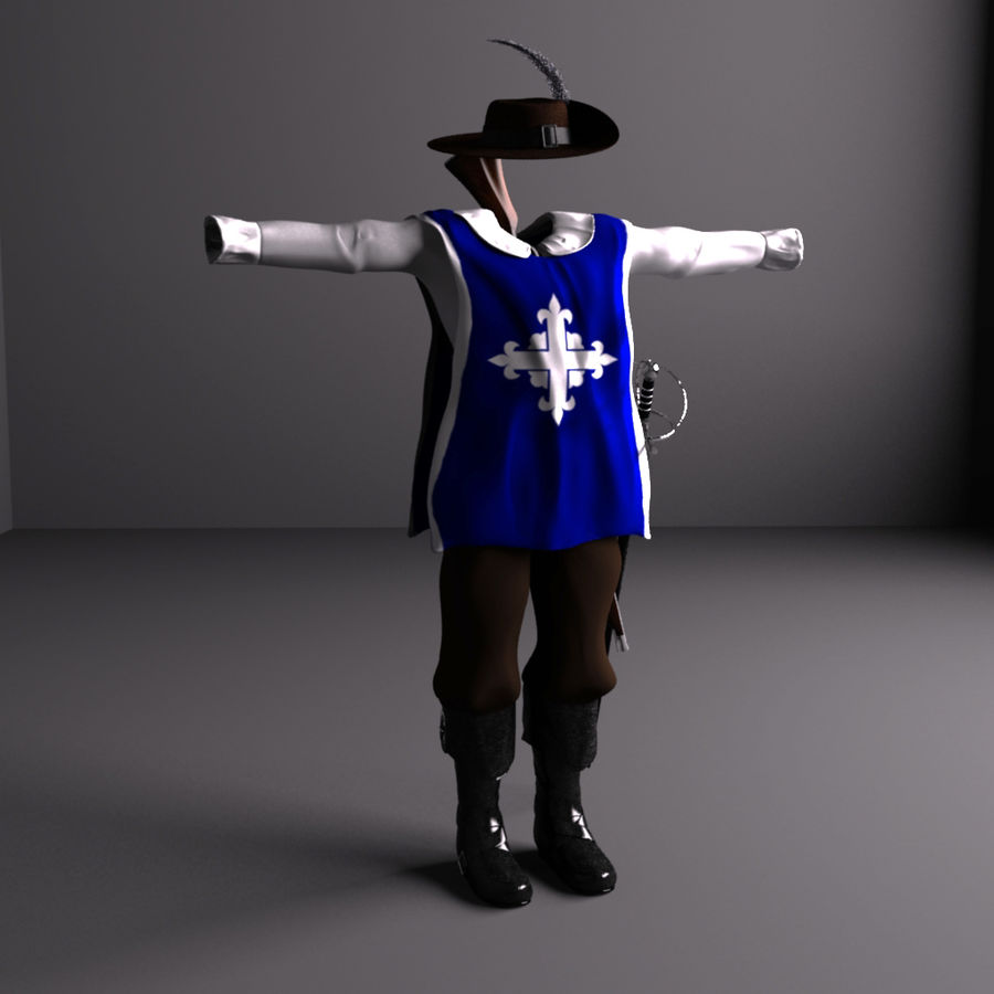 Musketeer Accessories royalty-free 3d model - Preview no. 1