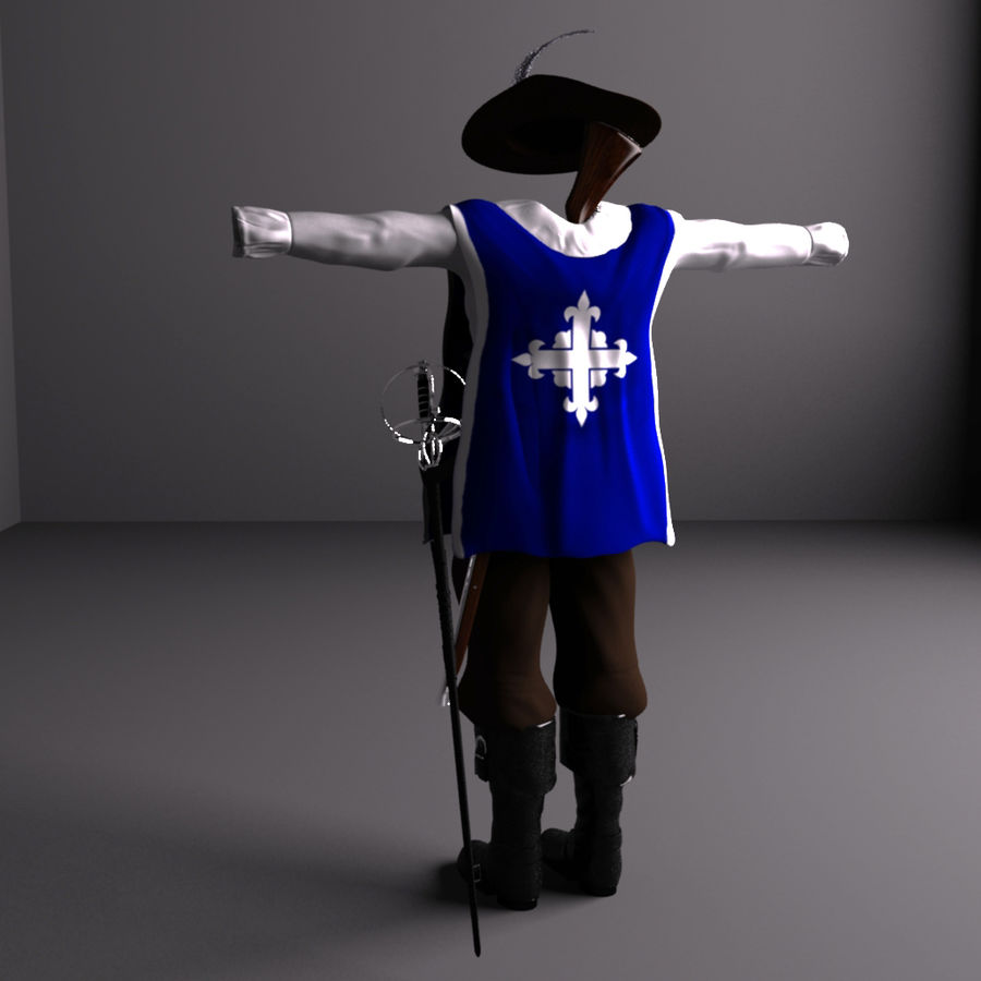 Musketeer Accessories royalty-free 3d model - Preview no. 4