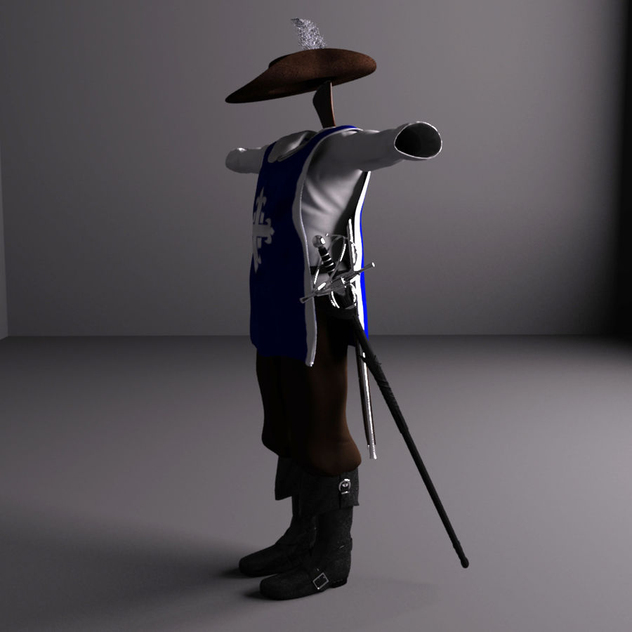 Musketeer Accessories royalty-free 3d model - Preview no. 3