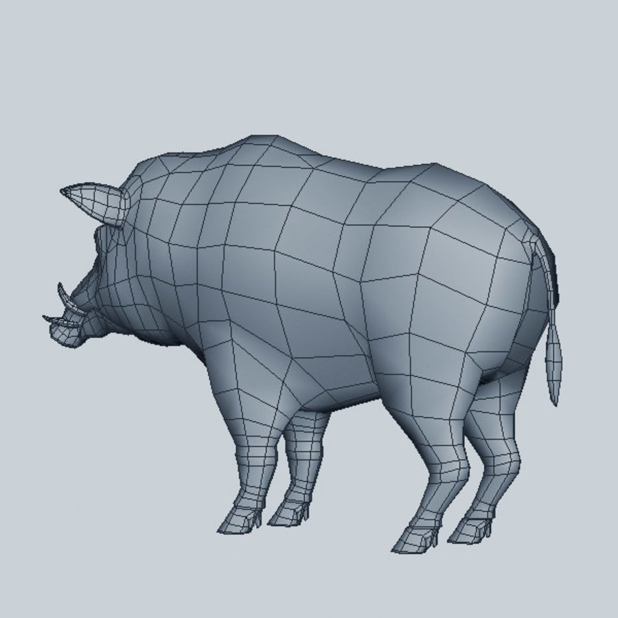 Cinghiale royalty-free 3d model - Preview no. 8