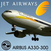 空客A330-300 Jet Airways。 3d model
