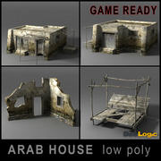 Arabische Häuser Low Poly 3d model