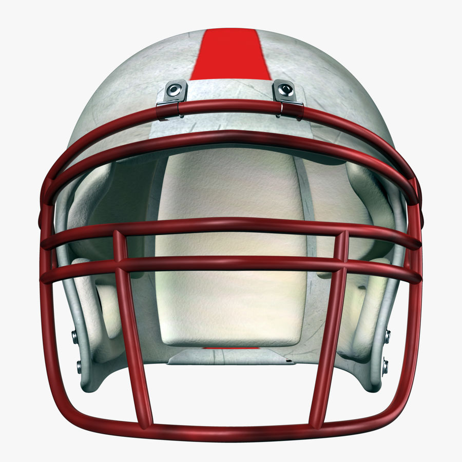 Helmet American Football royalty-free 3d model - Preview no. 2