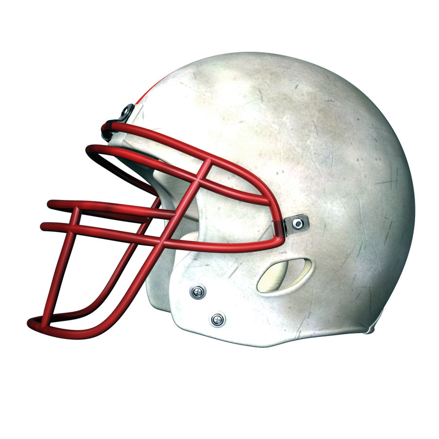Helmet American Football royalty-free 3d model - Preview no. 8