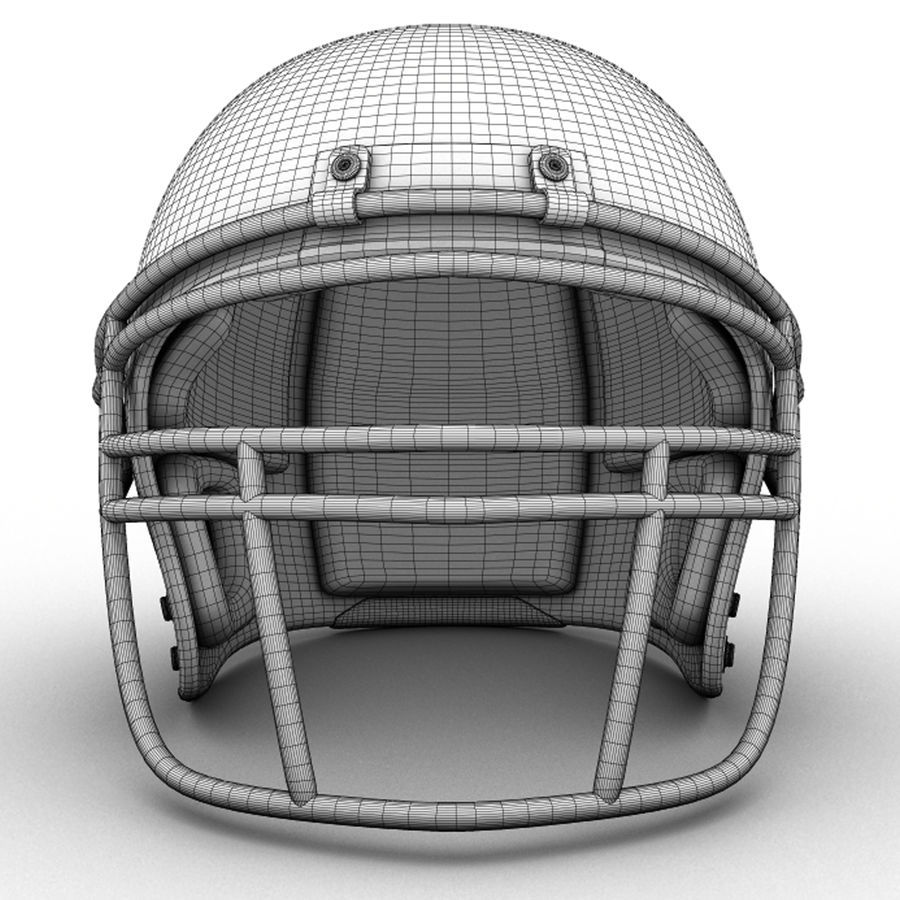 Helmet American Football royalty-free 3d model - Preview no. 5