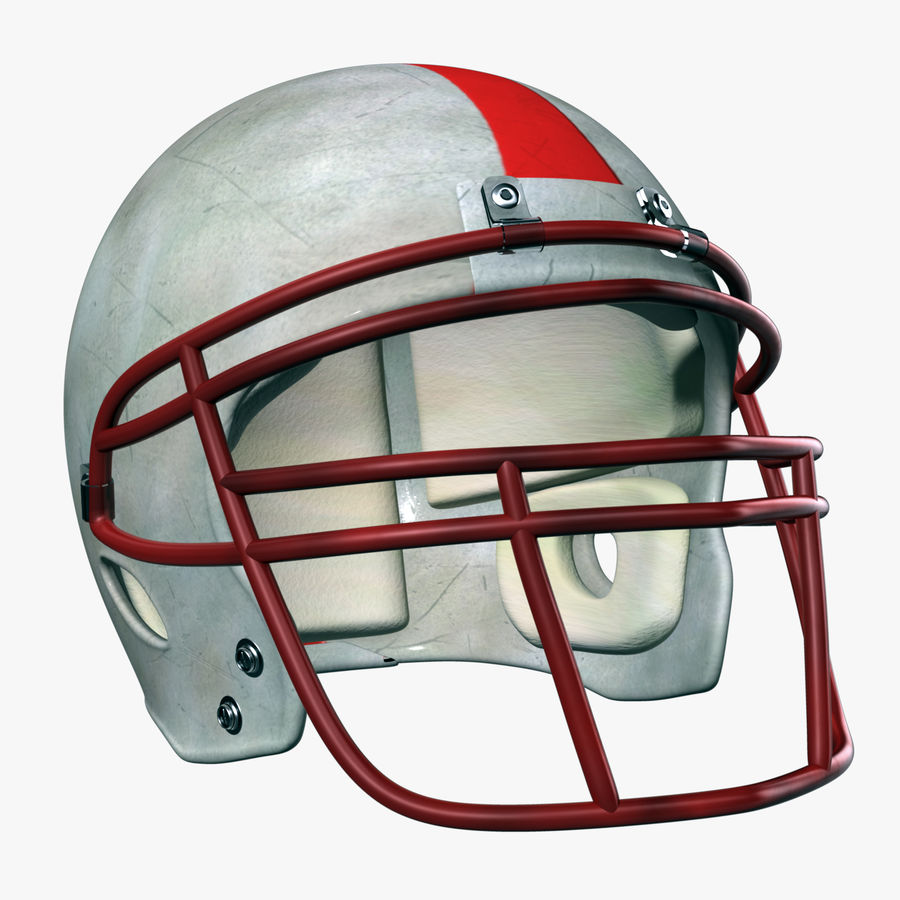Helmet American Football royalty-free 3d model - Preview no. 1