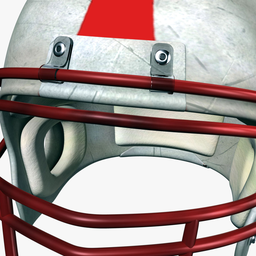 Helmet American Football royalty-free 3d model - Preview no. 3