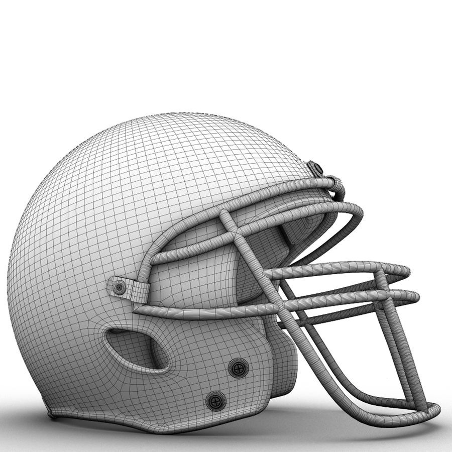 Helmet American Football royalty-free 3d model - Preview no. 6