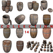 Wooden Barrel Collection Old New Gin ancient blacksmith 3d model