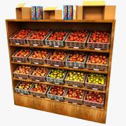 ストアフルーツスタンドアップルディスプレイ 3d model