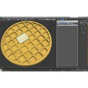 Waffles americanos modelo 3d