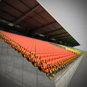 tribuna per stadio 3d model