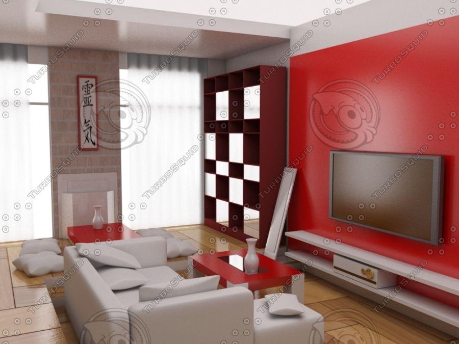intérieur moderne royalty-free 3d model - Preview no. 1