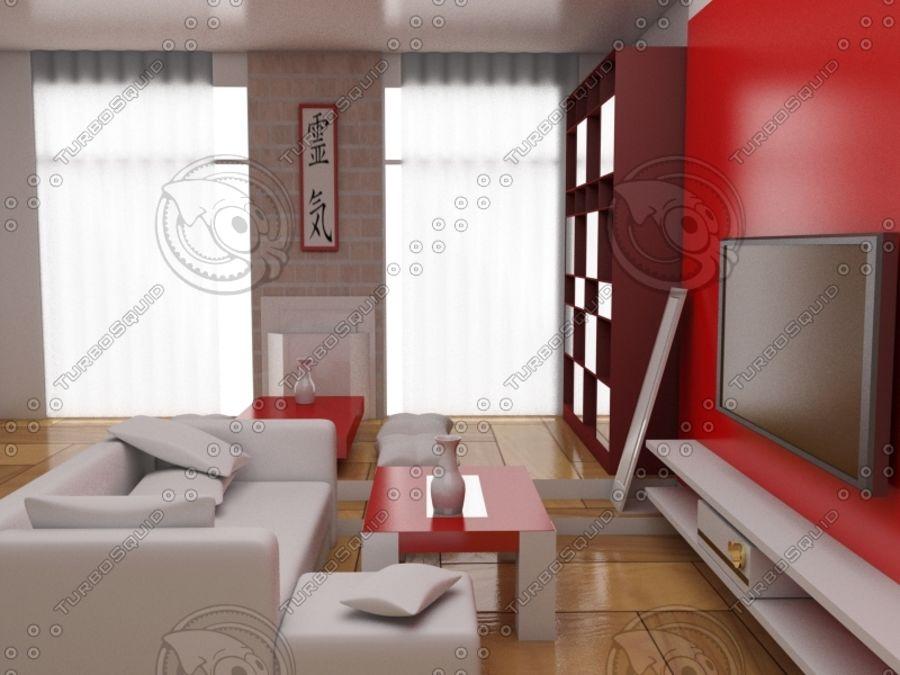intérieur moderne royalty-free 3d model - Preview no. 2