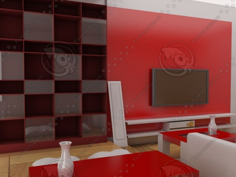intérieur moderne royalty-free 3d model - Preview no. 3
