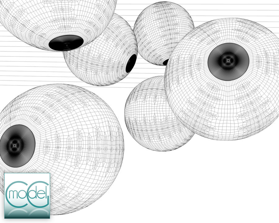 Beach ball royalty-free 3d model - Preview no. 8