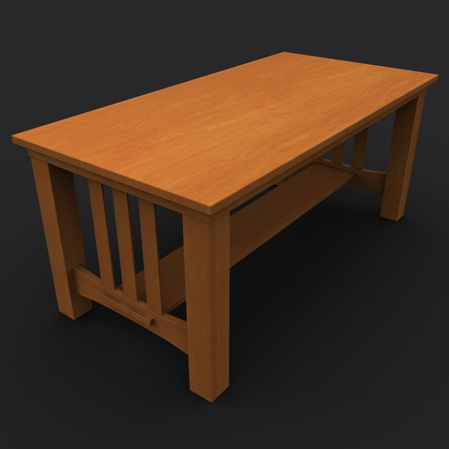 Träbord royalty-free 3d model - Preview no. 2