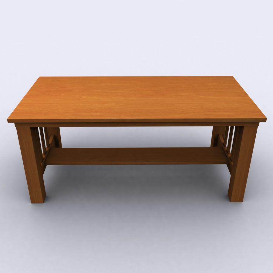 Träbord royalty-free 3d model - Preview no. 6