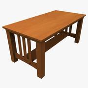 Mesa de madeira 3d model