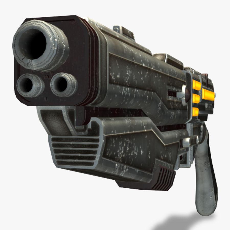 Shotgun (Rigged) royalty-free 3d model - Preview no. 11