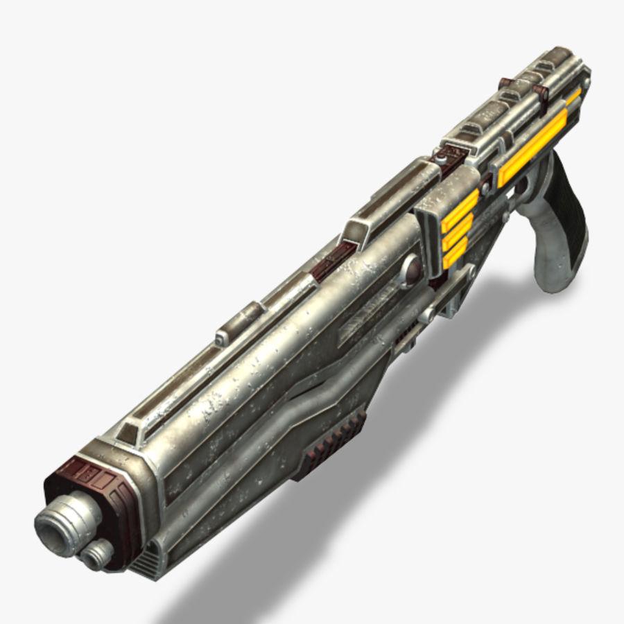 Shotgun (Rigged) royalty-free 3d model - Preview no. 9