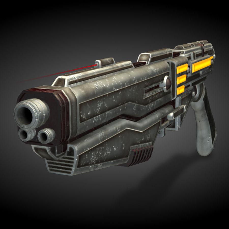 Shotgun (Rigged) royalty-free 3d model - Preview no. 2