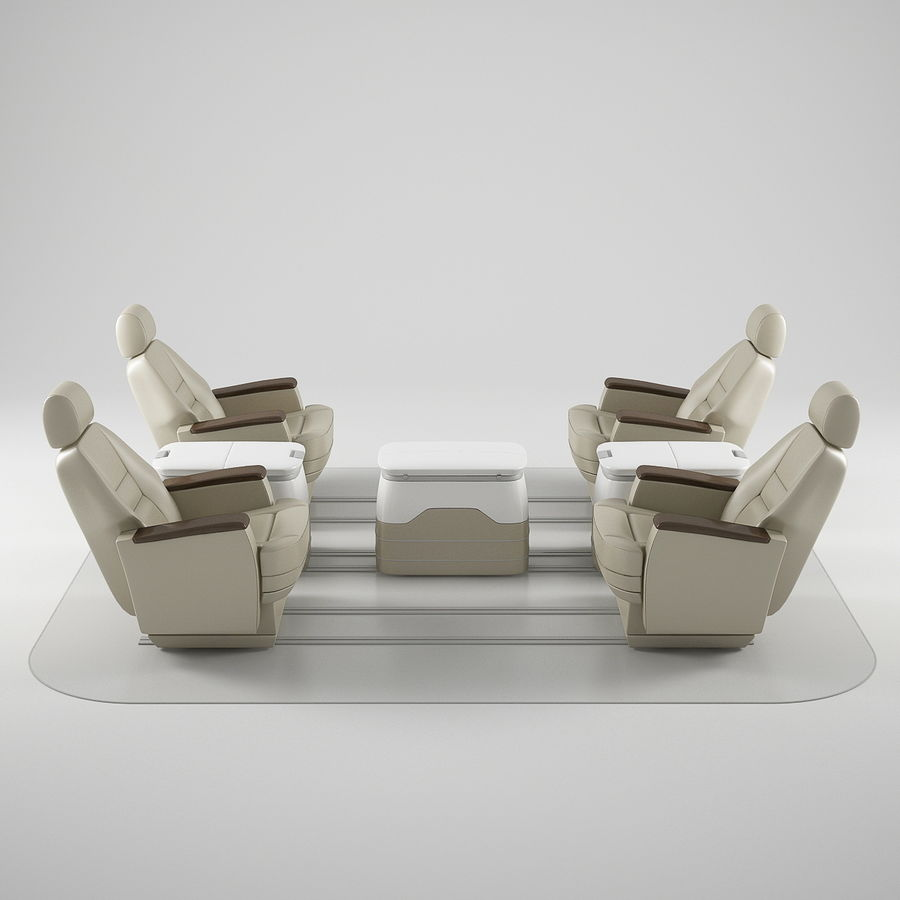 Flugzeug-Business-Sitze royalty-free 3d model - Preview no. 1