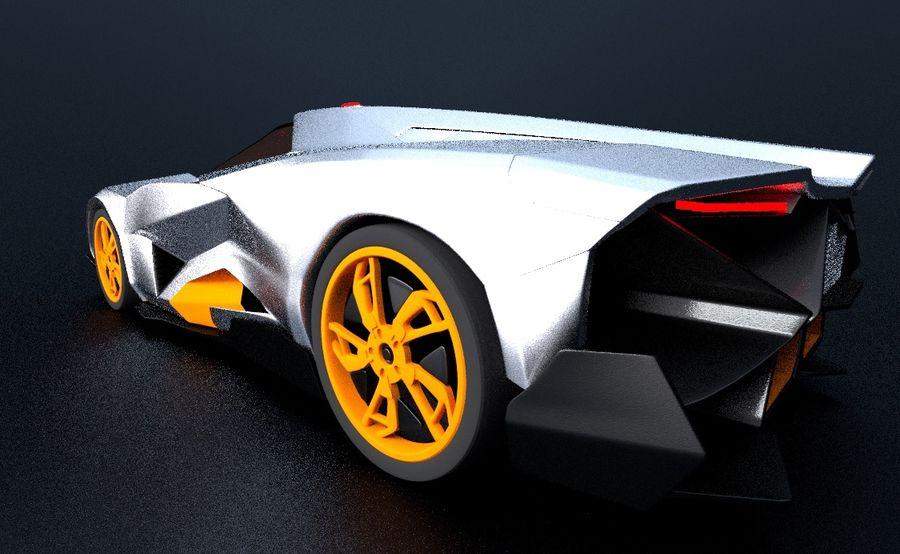 Lamborghini Egoista royalty-free 3d model - Preview no. 16
