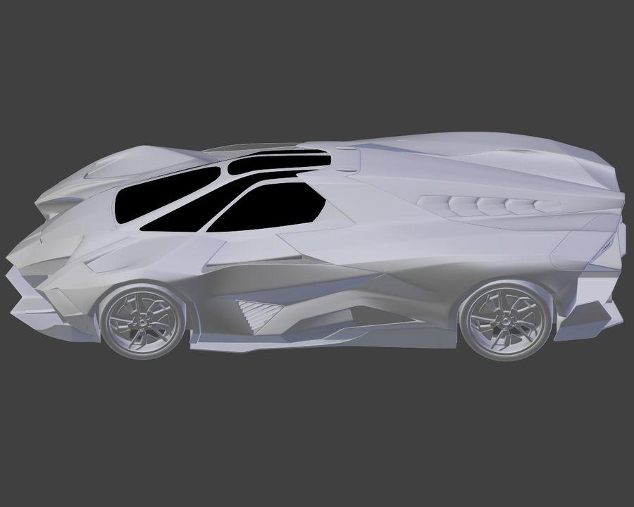 Lamborghini Egoista royalty-free 3d model - Preview no. 21