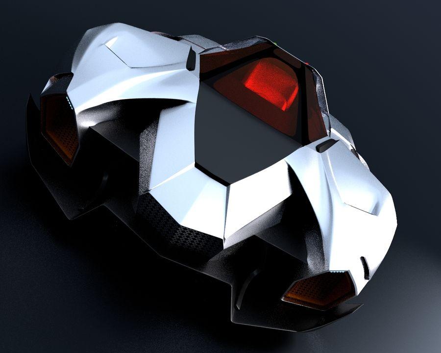 Lamborghini Egoista royalty-free 3d model - Preview no. 9