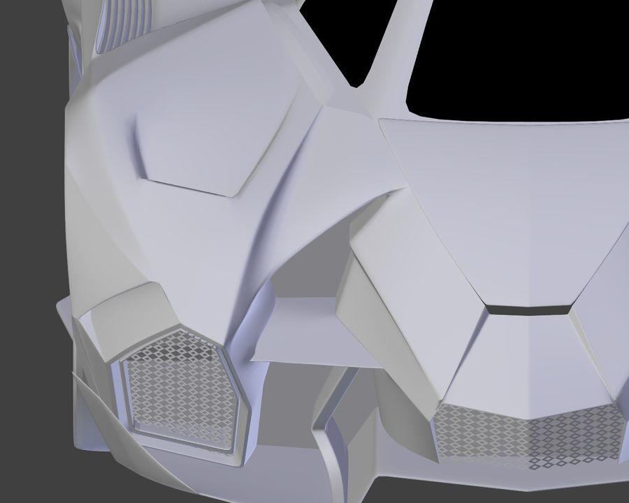 Lamborghini Egoista royalty-free 3d model - Preview no. 24