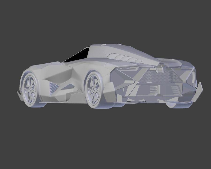 Lamborghini Egoista royalty-free 3d model - Preview no. 26