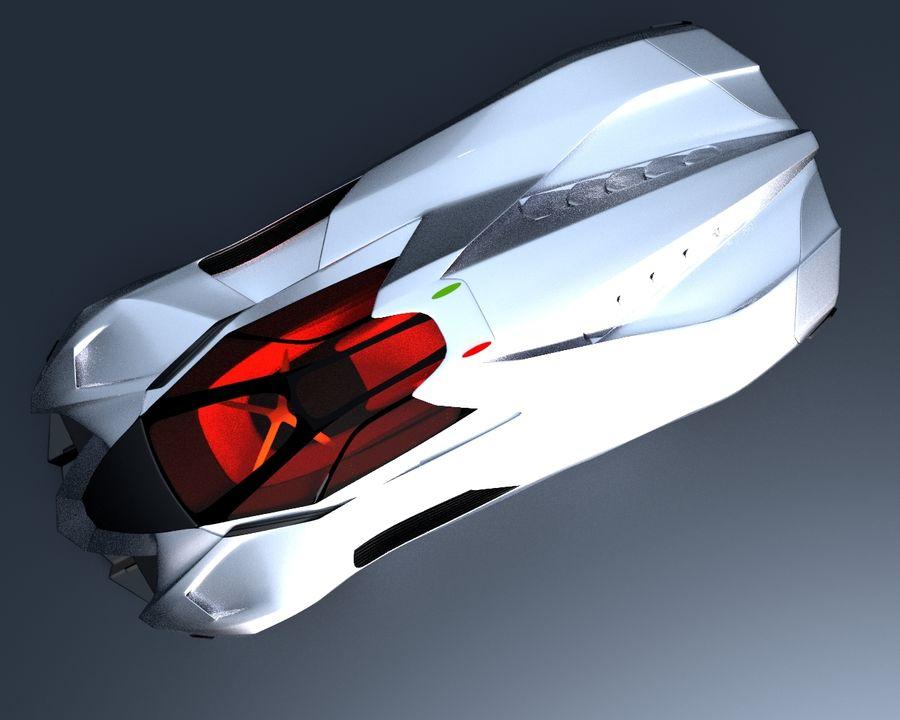 Lamborghini Egoista royalty-free 3d model - Preview no. 11