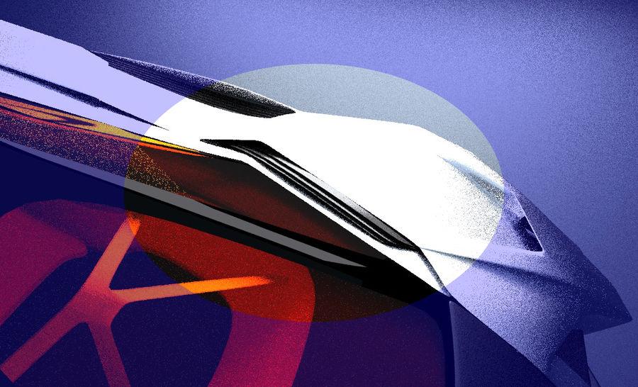Lamborghini Egoista royalty-free 3d model - Preview no. 15