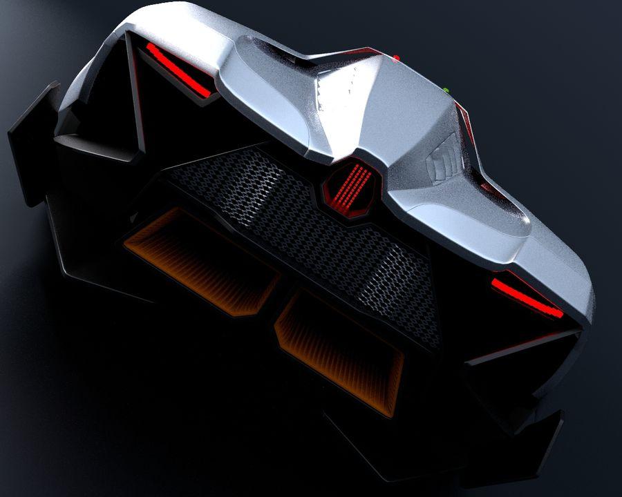 Lamborghini Egoista royalty-free 3d model - Preview no. 10