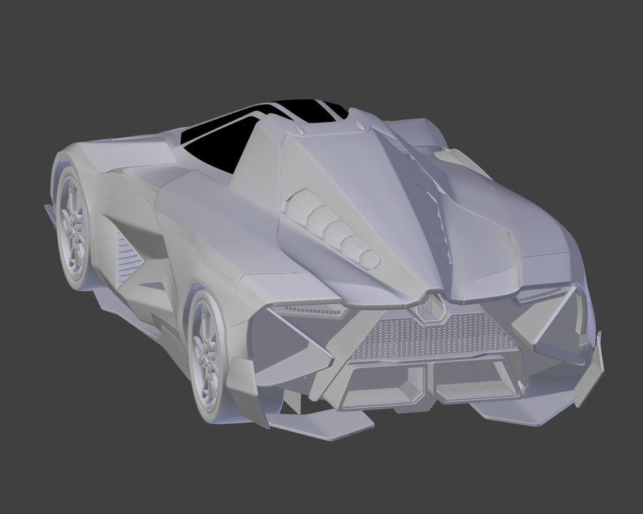 Lamborghini Egoista royalty-free 3d model - Preview no. 22