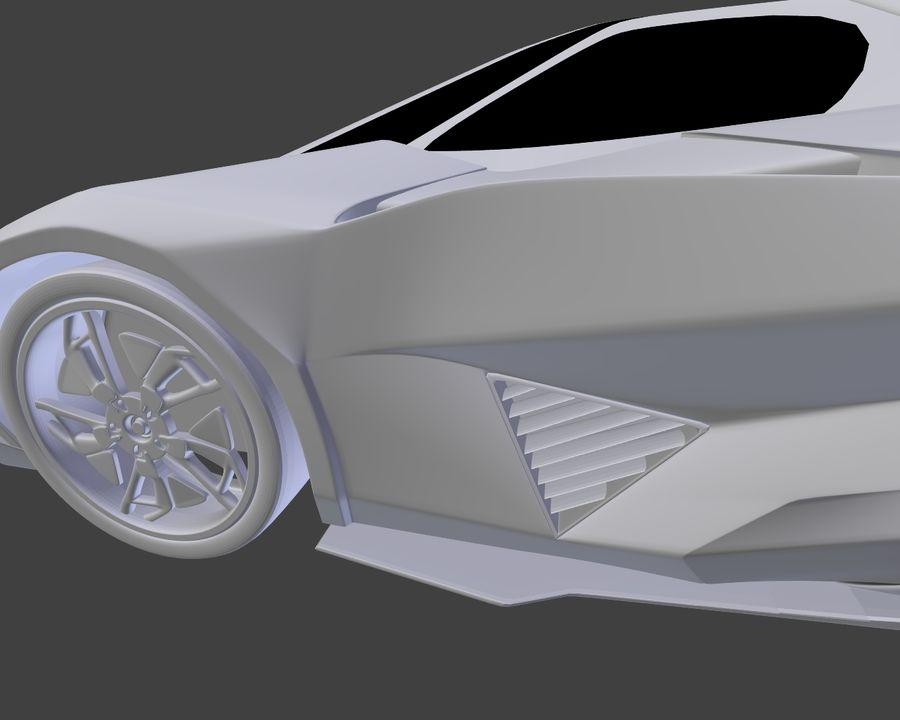 Lamborghini Egoista royalty-free 3d model - Preview no. 18