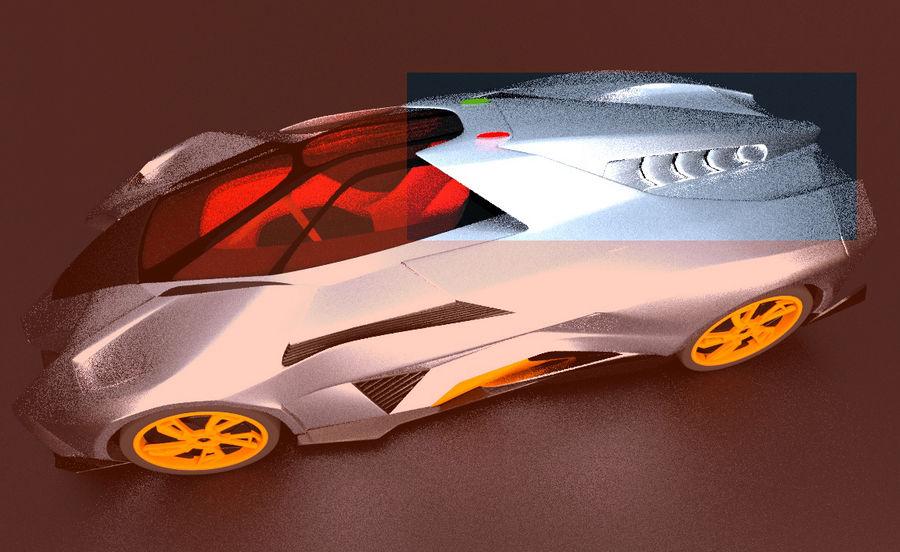 Lamborghini Egoista royalty-free 3d model - Preview no. 14