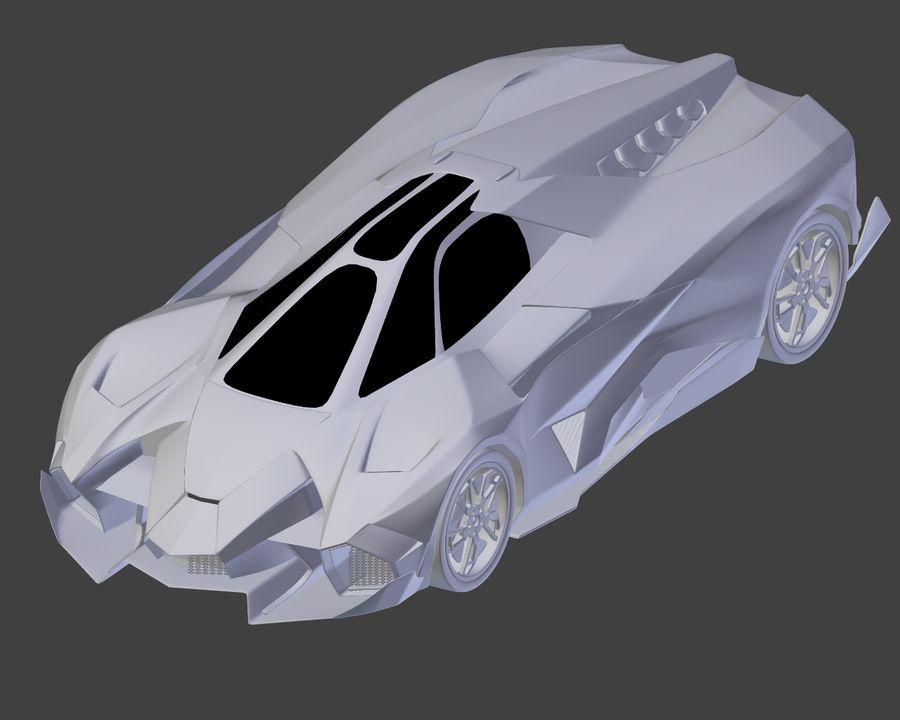 Lamborghini Egoista royalty-free 3d model - Preview no. 20