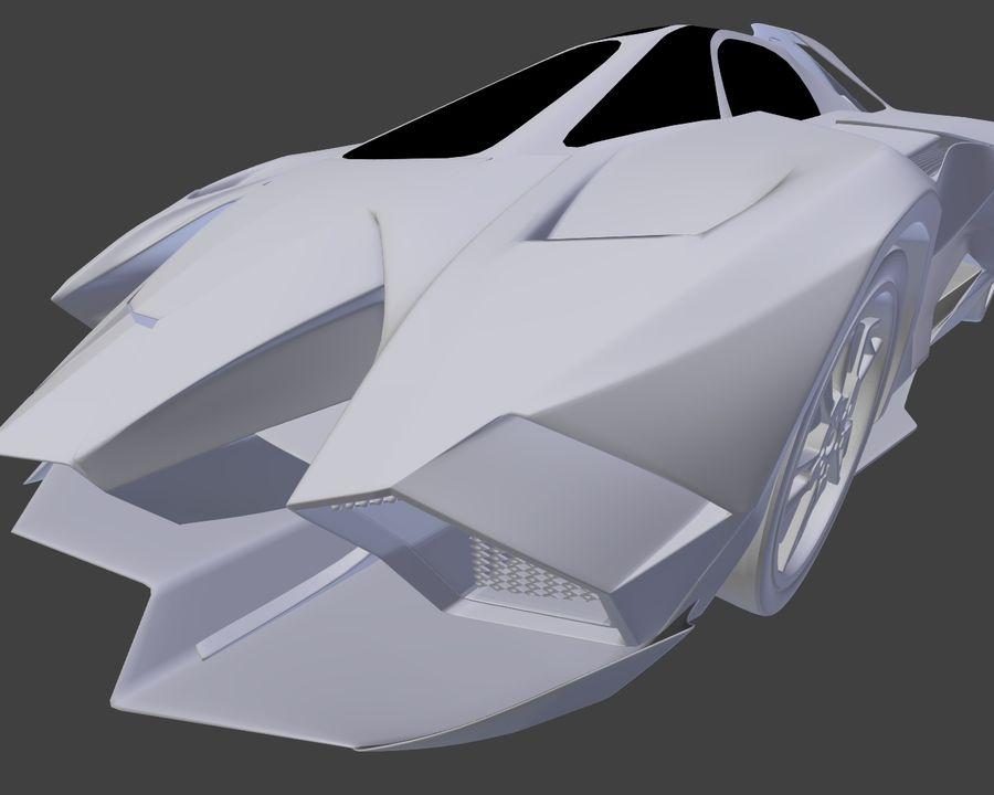 Lamborghini Egoista royalty-free 3d model - Preview no. 17
