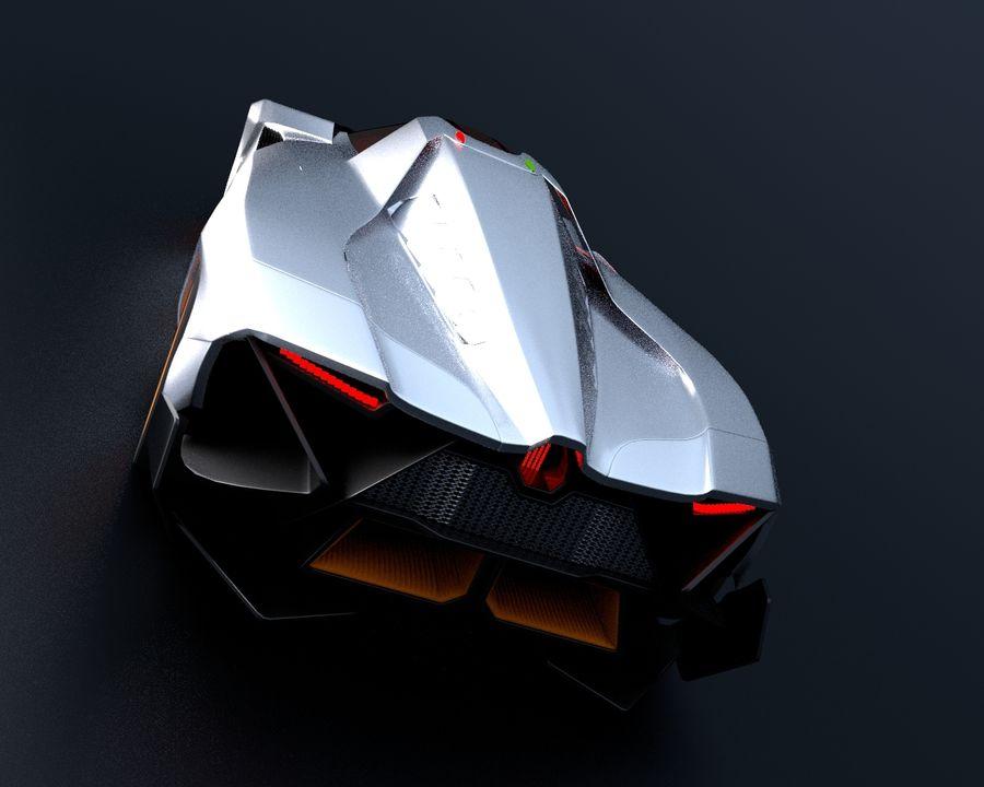 Lamborghini Egoista royalty-free 3d model - Preview no. 4