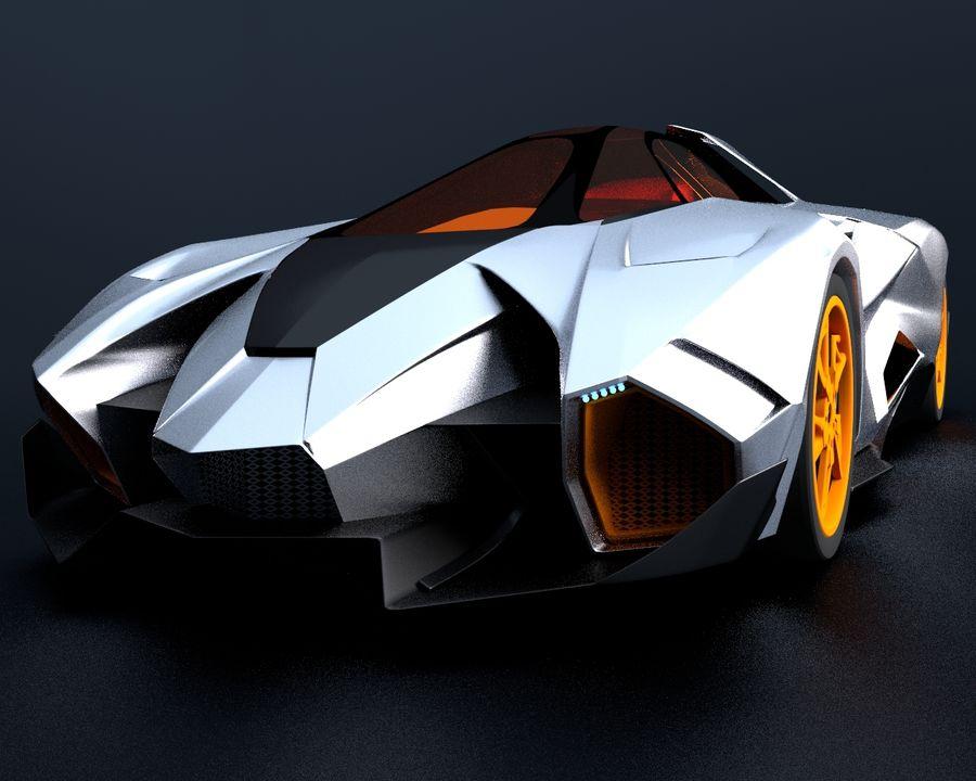 Lamborghini Egoista royalty-free 3d model - Preview no. 12