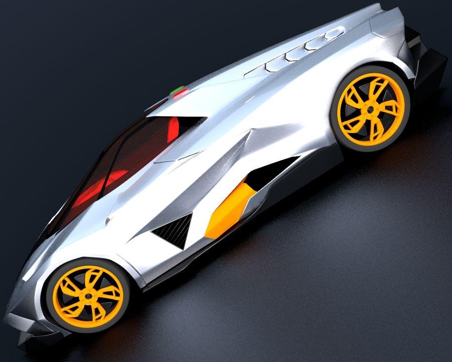 Lamborghini Egoista royalty-free 3d model - Preview no. 5