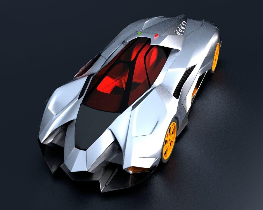 Lamborghini Egoista royalty-free 3d model - Preview no. 6